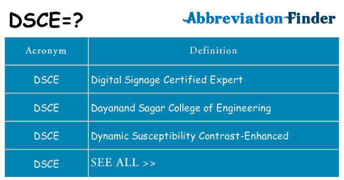 What does dsce stand for