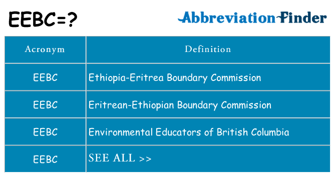 What does eebc stand for