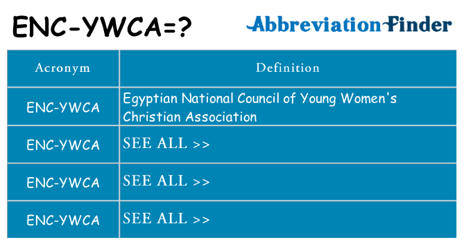 What does enc-ywca stand for