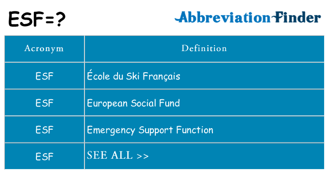 What does esf stand for