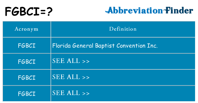 What does fgbci stand for
