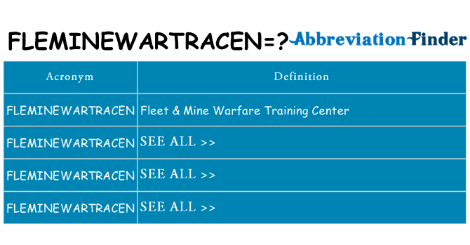What does fleminewartracen stand for