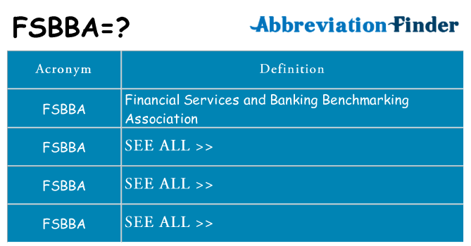 What does fsbba stand for