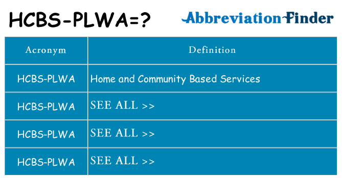 What does hcbs-plwa stand for