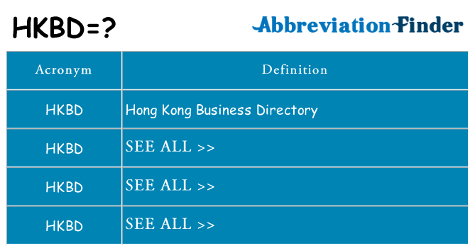 What does hkbd stand for