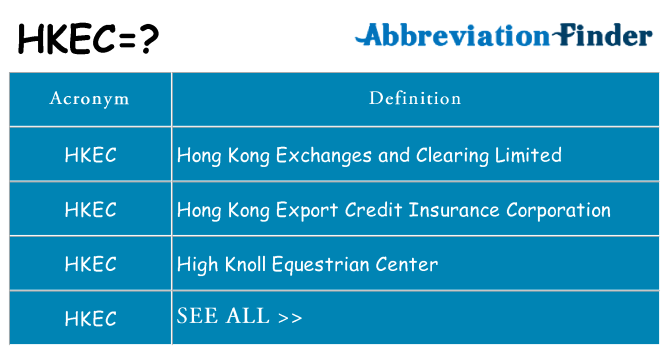 What does hkec stand for