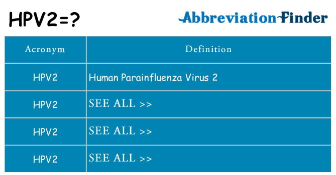 What does hpv2 stand for