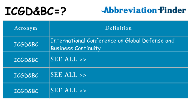 What does icgdbc stand for