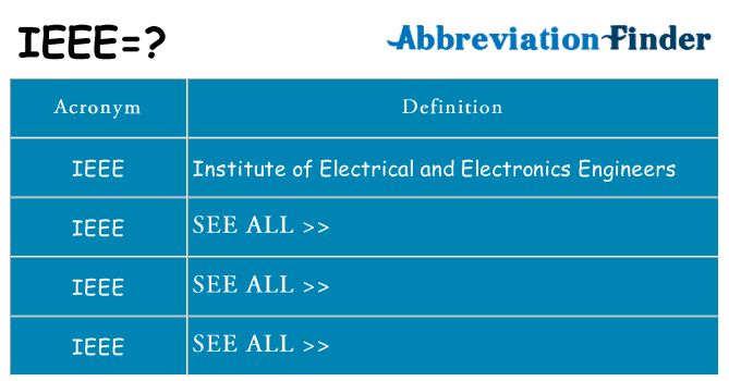What does ieee stand for