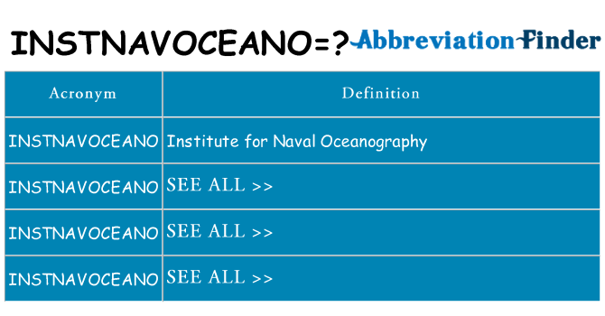 What does instnavoceano stand for
