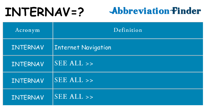 What does internav stand for