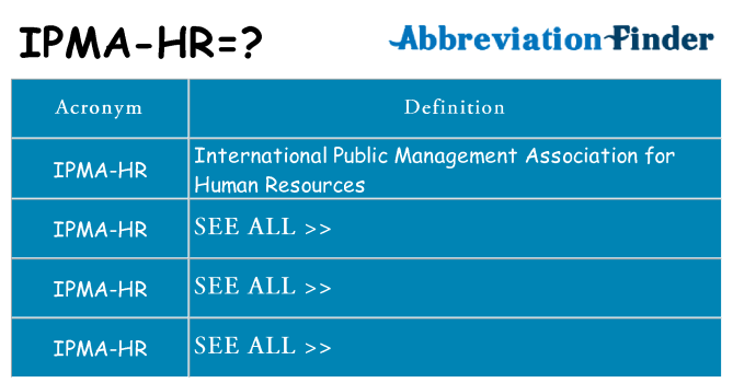 What does ipma-hr stand for