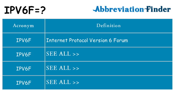 What does ipv6f stand for