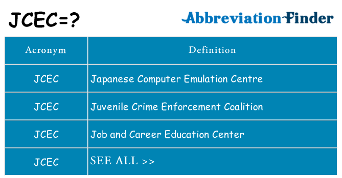 What does jcec stand for