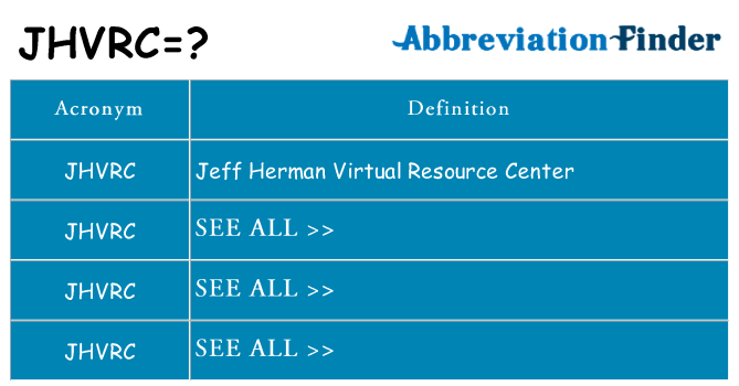 What does jhvrc stand for