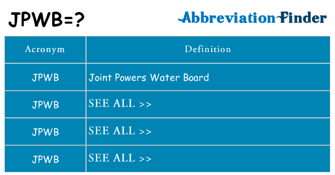 What does jpwb stand for