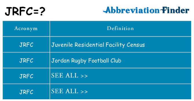 What does jrfc stand for