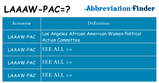 What does laaaw-pac stand for