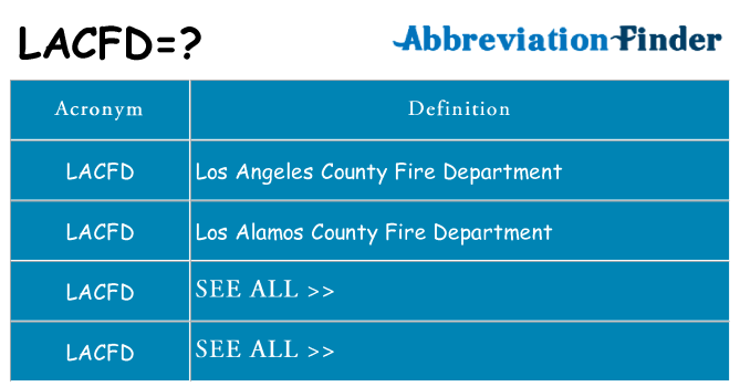 What does lacfd stand for