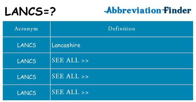 What does lancs stand for