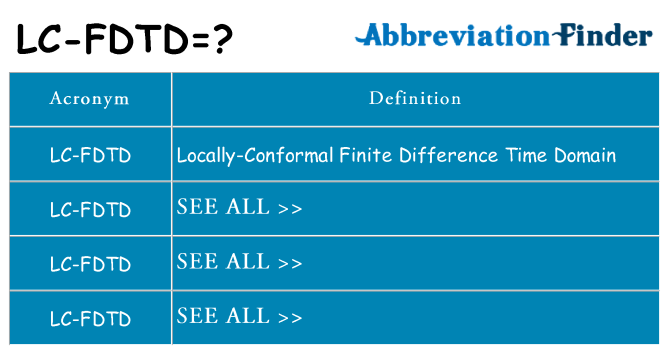 What does lc-fdtd stand for