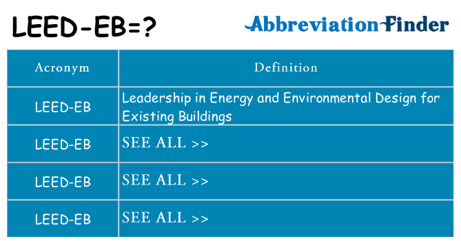 What does leed-eb stand for