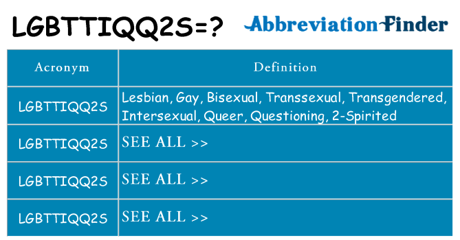 What does lgbttiqq2s stand for