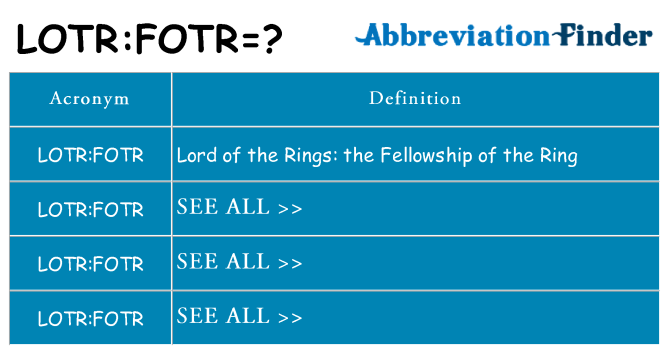 What does lotrfotr stand for