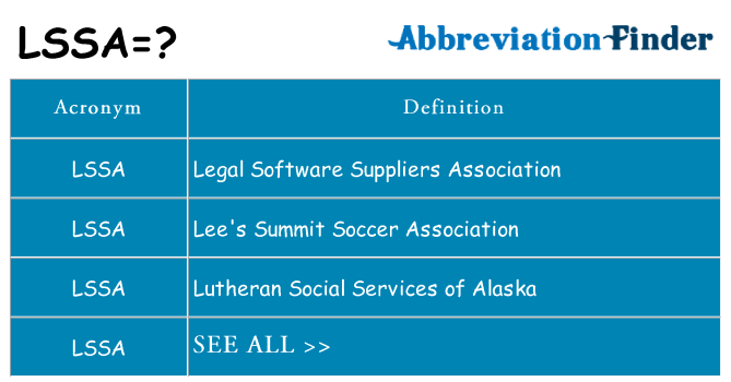 What does lssa stand for