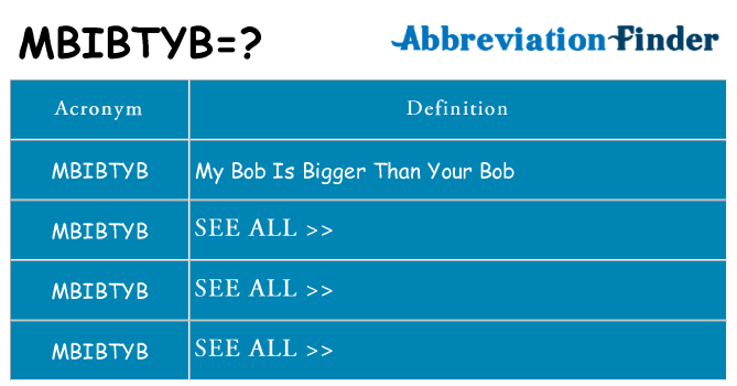 What does mbibtyb stand for