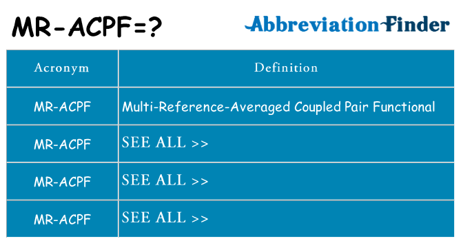 What does mr-acpf stand for
