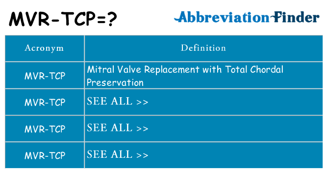 What does mvr-tcp stand for