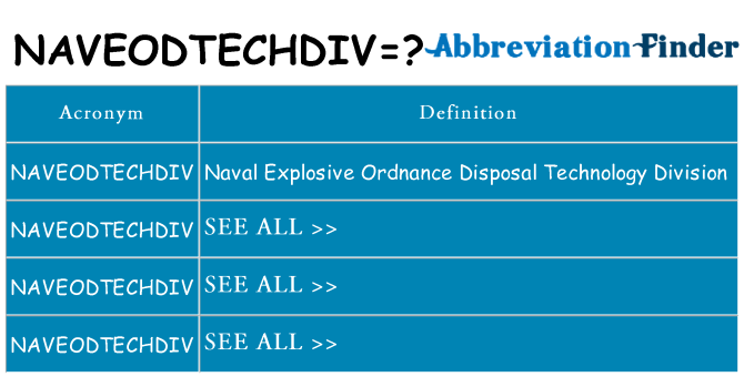 What does naveodtechdiv stand for