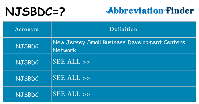 What does njsbdc stand for
