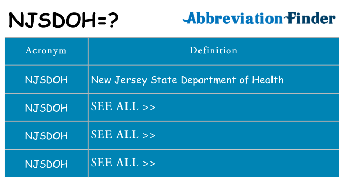 What does njsdoh stand for