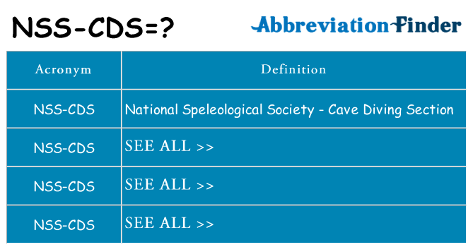 What does nss-cds stand for