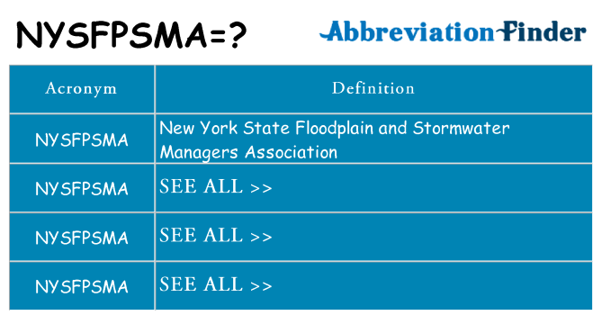 What does nysfpsma stand for