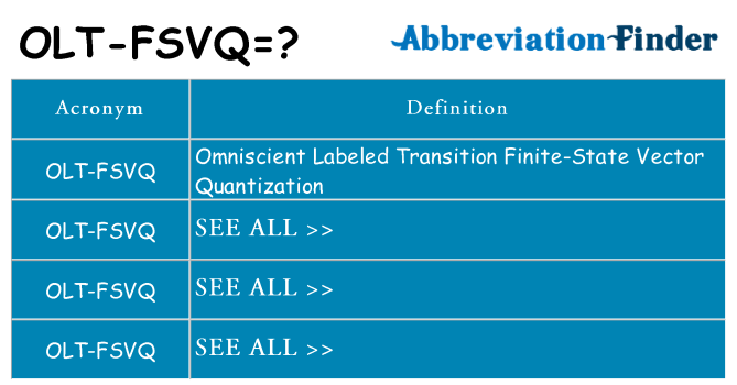 What does olt-fsvq stand for