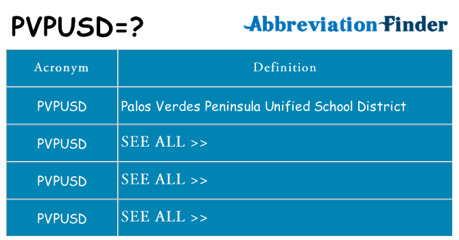 What does pvpusd stand for