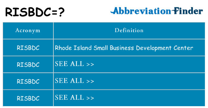 What does risbdc stand for