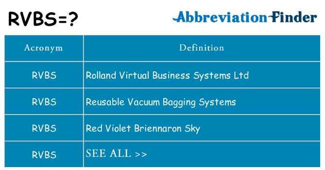 What does rvbs stand for
