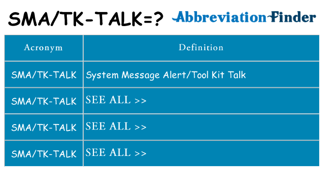 What does smatk-talk stand for