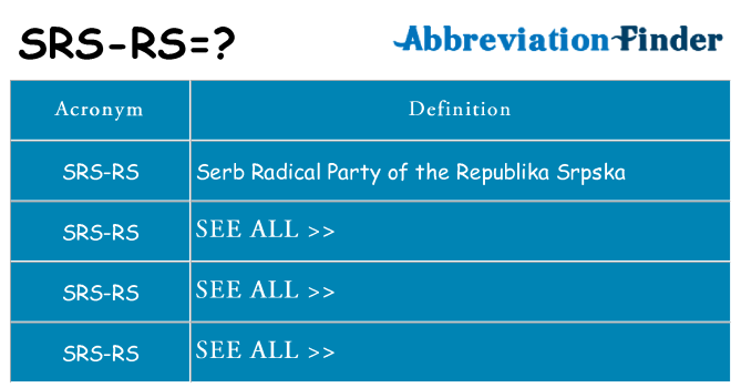 What does srs-rs stand for