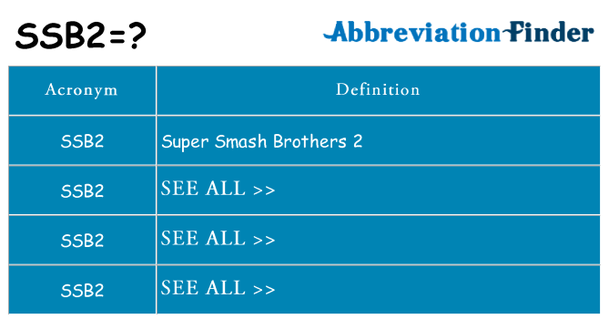 What does ssb2 stand for