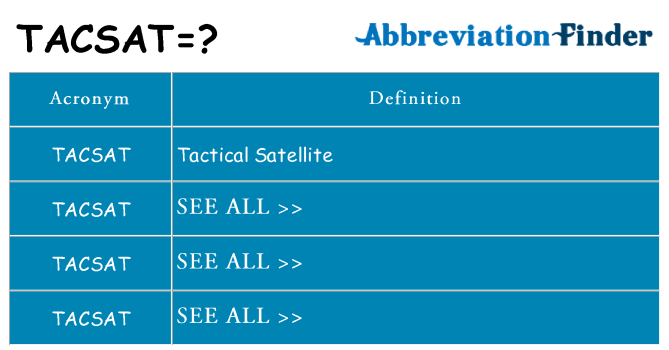 What does tacsat stand for