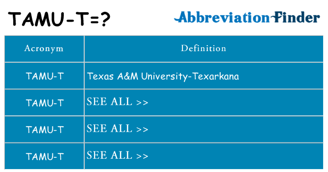 What does tamu-t stand for