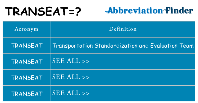 What does transeat stand for