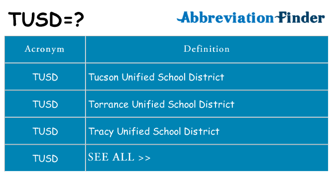 What does tusd stand for