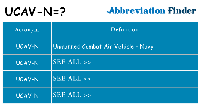 What does ucav-n stand for