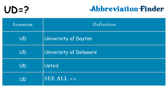 What does ud stand for
